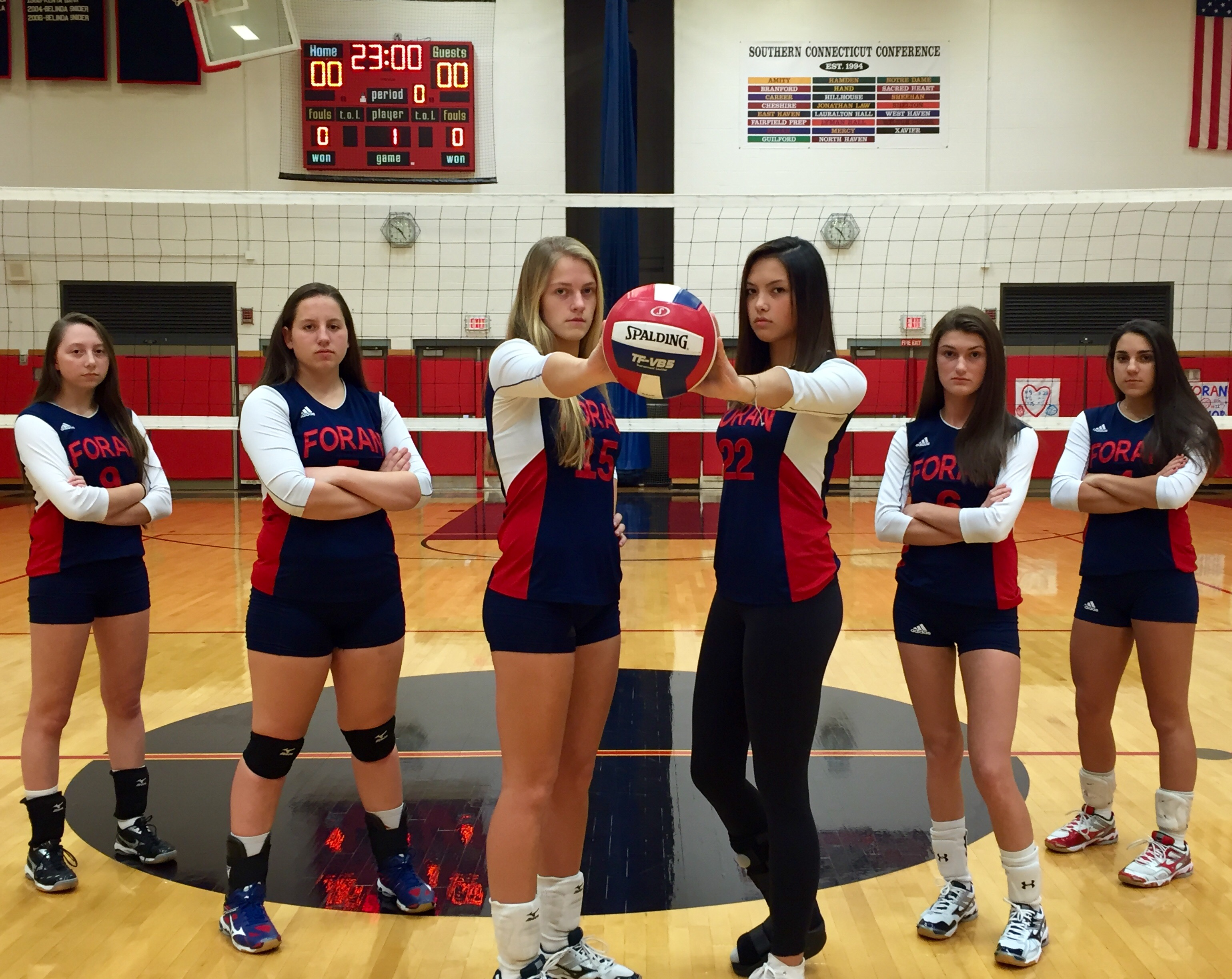 Foran Senior volleyball players