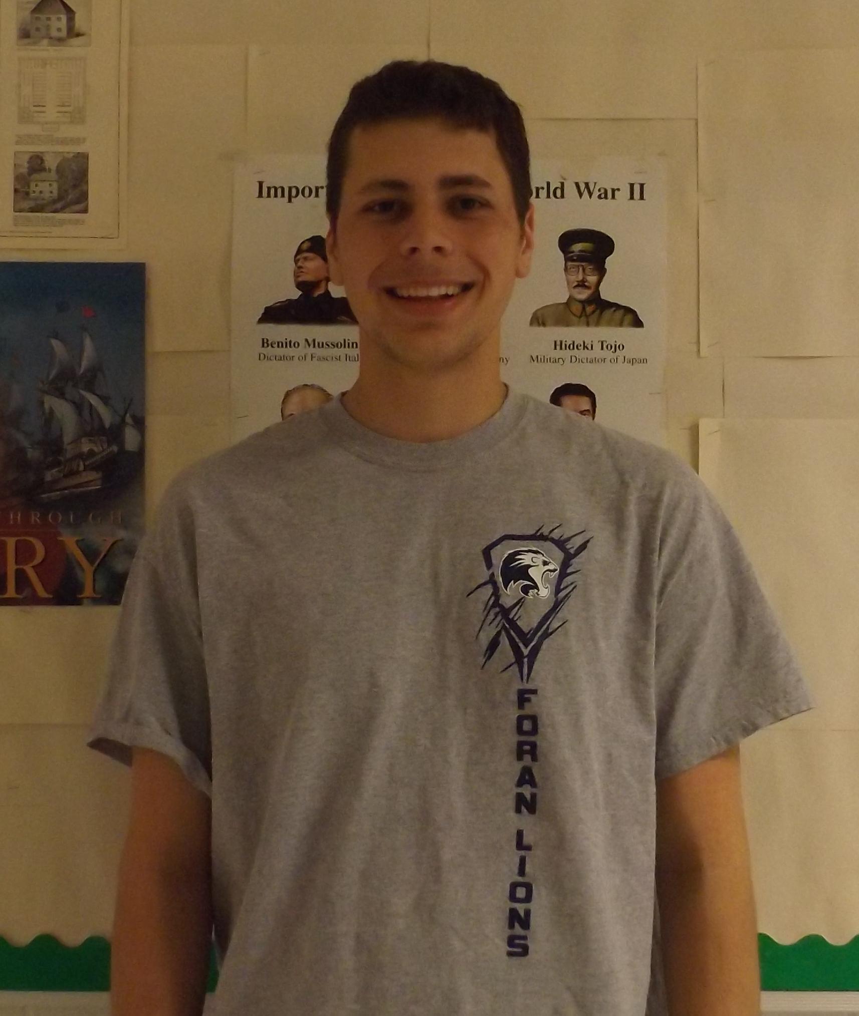 Valedictorian Joe Bartone
