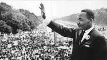 MLK Jr. gives a speech. Photo courtesy of biography. com