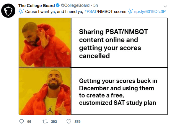 PSAT Memes Create a College Board Nightmare
