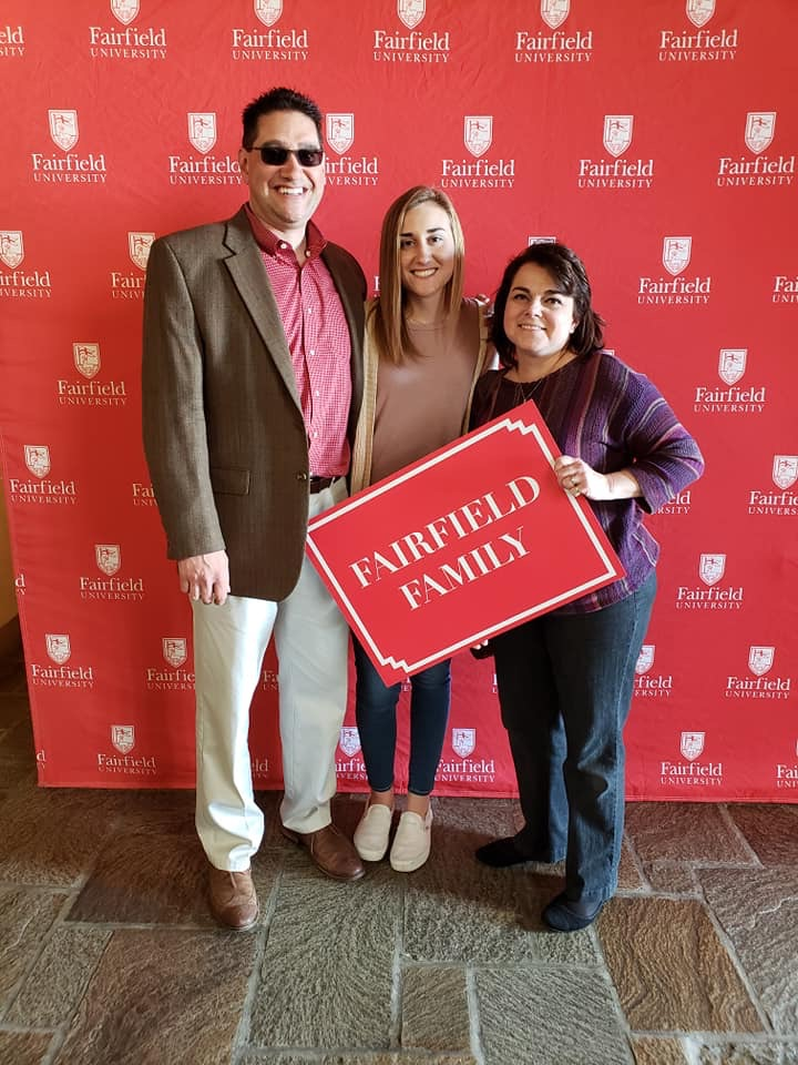 Makenna and her parents are very excited to be a part of a Fairfield University family. Photos courtesy of Makenna Prete.