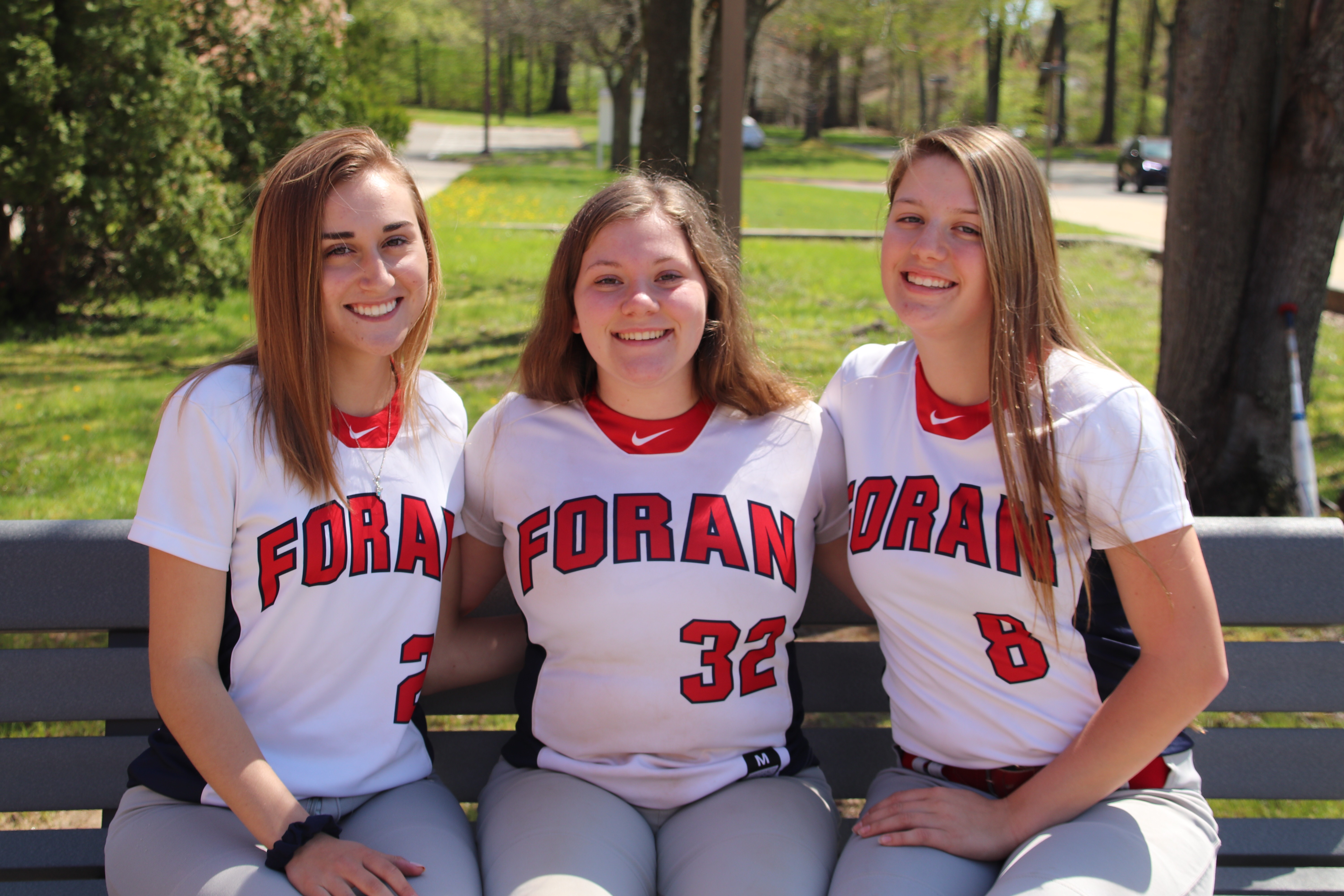 Seniors Makenna Prete, Hailey Laforte, and Kailey Loewenberg on the foran softball team that left behind their tips for underclassmen.