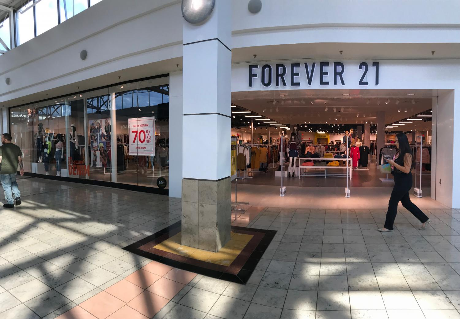 Forever 21 at the Connecticut Post Mall in which local residents of Milford and it's neighboring cities shop.