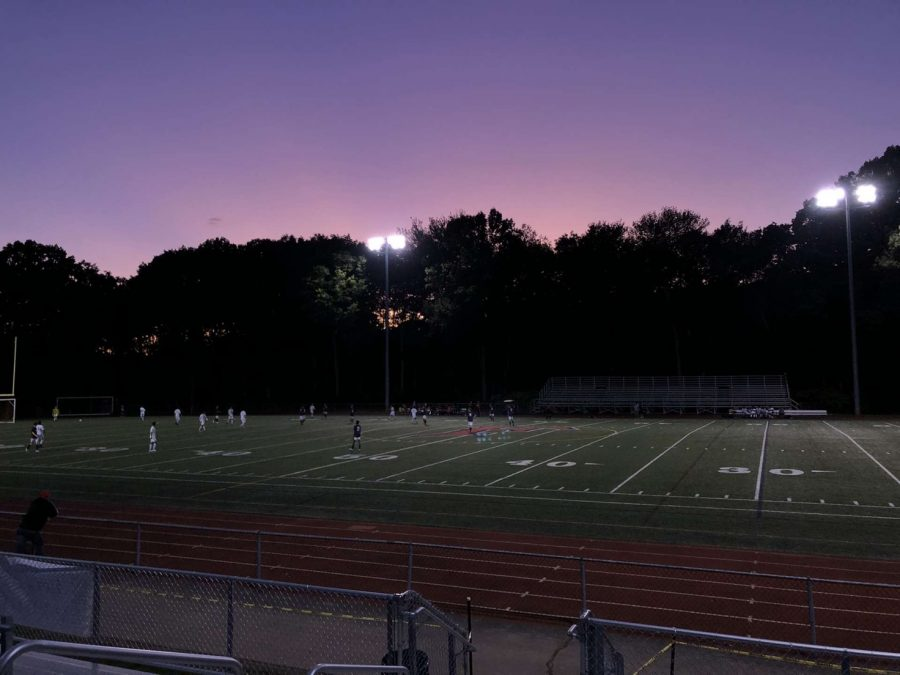 The+sun+setting+at+a+home+boys+soccer+game+on+September+17.+Photo+Courtesy+of+Amelia+McGonigle.
