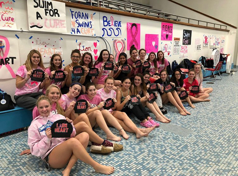 Foran+Swimming+and+Dive+at+Lion+Heart%E2%80%99s+2018+event+showing+spirit.+Photo+Courtesy+of+Meghan+Condon%0A