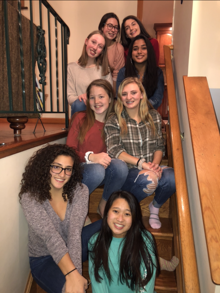 Friendsgiving celebrated at Daniya Chopra's House. Top to Bottom-  Mary Grace Weissauer and Emily Jankura, Paige Carlson and  Daniya Chopra, Anna Byers and Lauren heenan, Bella Ribera and Emma Jerue.