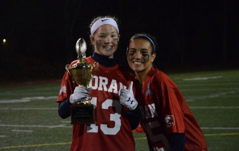 Anna Byers and Ariana Montero pose with the trophy - Photo courtesy of MaryGrace Weissauer