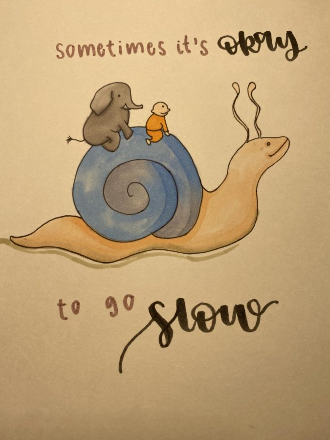 Drawn by Kaylee Phung, based off of @buddhadoodles on Instagram.