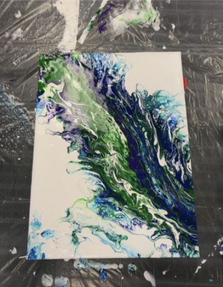 A painting Tatyanna created when she was stressed one day.