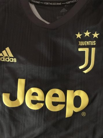 The jersey of Ronaldo´s current club team, Juventus. 10 January 2020. Photo Courtesy of Ben Cogan.