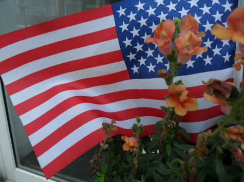 This photo shows an American flag . Photo courtesy of creative commons.