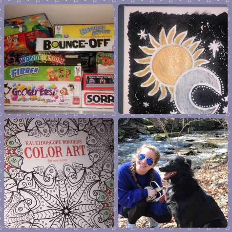 Bored at Home? Play games, draw, go for walks, find new hobbies. Photo courtesy of Katie Ourfalian.