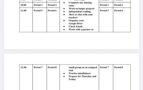 Phase 3 schedule. Photo courtesy of Mr. Berkowitz