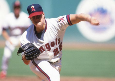 Jim Abbott pitches the ball while on the California Angels. Photo Courtesy of Baseball America.