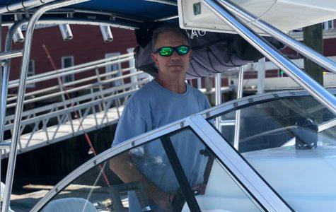 Captain Ron Gaul takes on the sea. Photo Courtesy Julia Gaul.