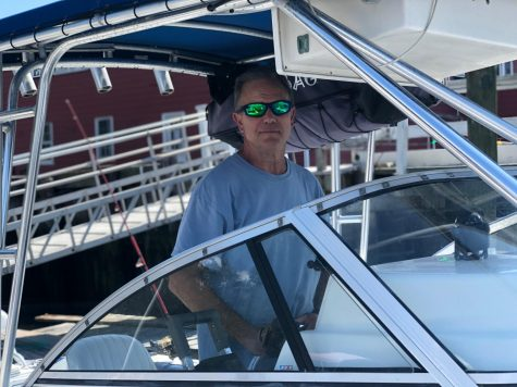 Captain Ron Gaul takes on the sea. Photo Courtesy Julia Gaul.