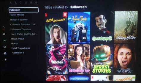 Popular Halloween Movie Covers:  Trending Halloween movies on Netflix.  Photo Courtesy: Renzo Silva, October 19, 2020.