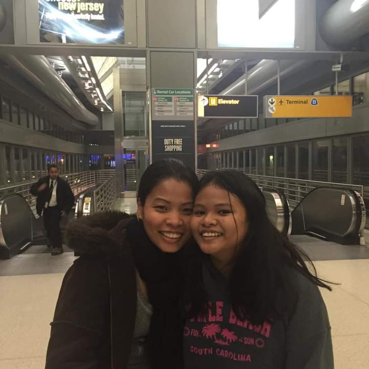 Together in a new home: Julianne and her mother, Ri-anne Yason,in an American airport. Photo courtesy of Julianne Yasona