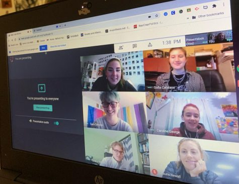 Virtual Meets: Students of the Gay-Straight Alliance meet virtually every Thursday at 1:00 via Google Meets. Photo Courtesy: Isabel Blanco