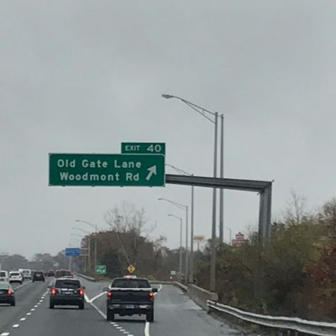 Exit 40: Connecticut Turnpike at Old Gate Lane/E Town Road/Woodmont Road, Milford. Photo courtesy of Riann Yasona-Hooghkirk.