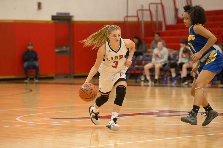 A+Brilliant+Ball+Handler%3A+Senior+Lauren+Heenan+dribbles+the+ball+down+the+court+for+Foran+on+offense.+Photo+courtesy%3A+Lauren+Heenan%2C+Nov.+11%2C+2020