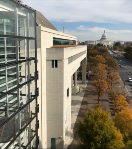 The Canadian Embassy and Capitol Building, Washington D.C. Taken November 2019. Photo Courtesy of Ronan Smith.