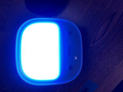 Light box used to help cope with SAD. Photo Courtesy: Mrs. Farrell; November 16, 2020.