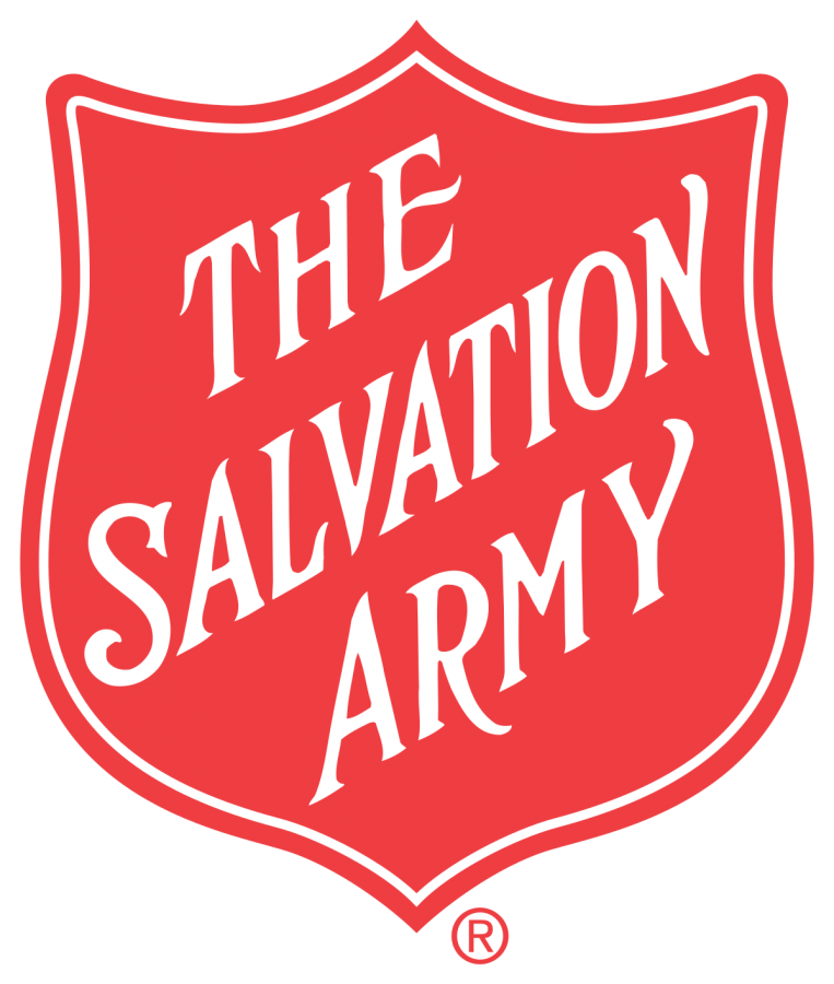 Photo is a picture of the giving logo of Salvation Army.Photo Courtesy of Laura Kruger, December 1st.