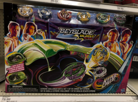 BeyBlades still sold at Target in 2020, they offer a wide variety of the latest versions as well.  Photo courtesy: Nicole Jones