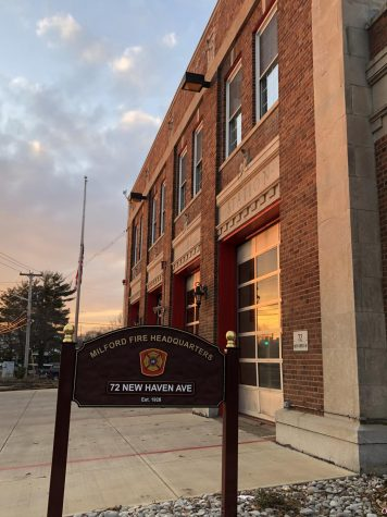 Milford Fire Department Headquarters: The MFD headquarters in downtown Milford.  Photo Courtesy: Jessica Chamberlain