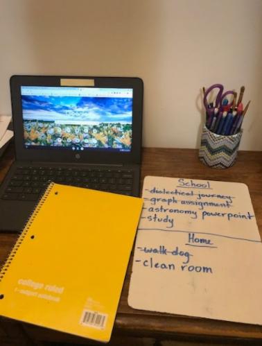 Lists: efficient and organized tool for work. Photo courtesy: Stephanie Galaburri, January 10, 2021.