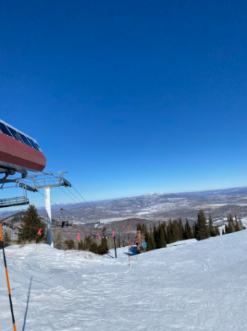 The view from the top of Killington Mountain in Vermont. Photo Courtesy of Nathan Wolfe, January 4, 2020