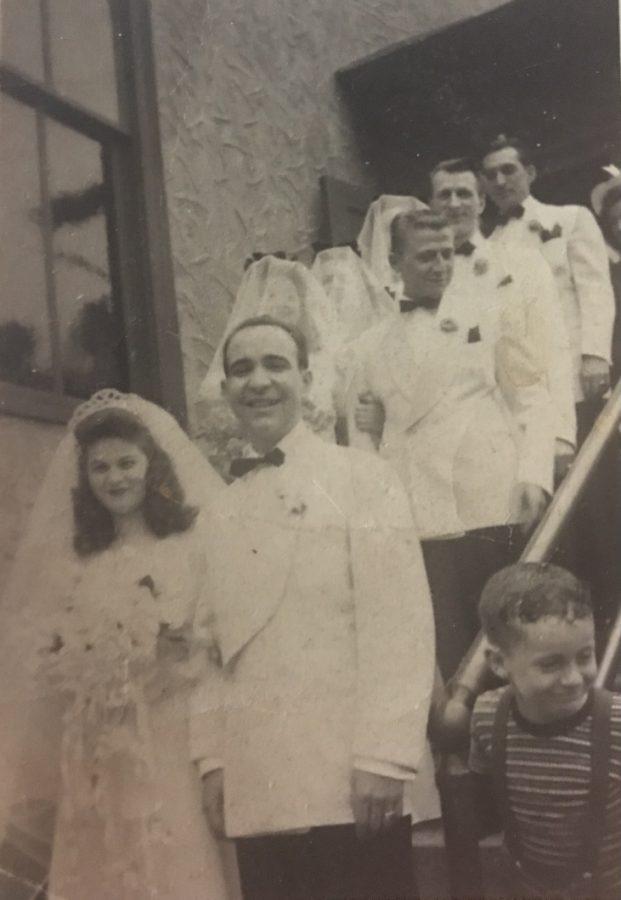 The wedding of 1942: Newlyweds Mary and Joseph Galaburri. Photo courtesy: Steph Galaburri, March 17, 2021
