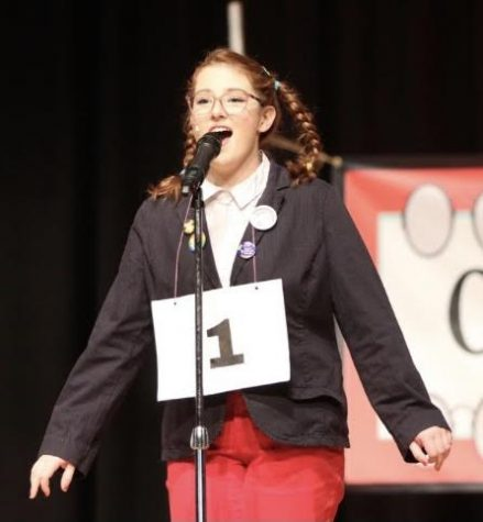Isabel Blanco performing during the school's musical last year.  Photo Courtesy Isabel Blanco