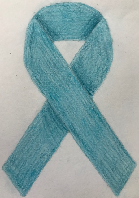 Teal is the color of the sexual assault ribbon. Photo courtesy: Steph Galaburri, May 19, 2021.