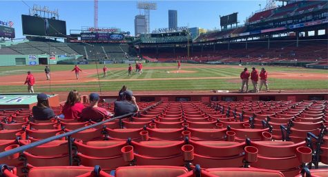 The baseball season is finally back at a halfway filled Fenway Park in Boston, Massachusetts. Photo courtesy: Brian Massey, April 11, 2021.