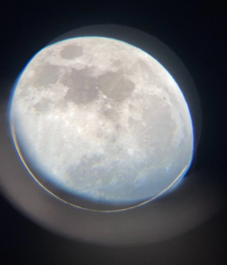 Pictured is the pink super moon. Photo courtesy: Delsie Lopez, April 26, 2021.