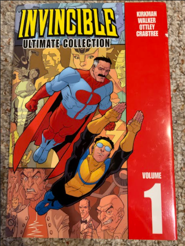 What Started It All: The first of twelve books in the Invincible comic book series.  Photo courtesy: Connor Nieman, May 6, 2021.