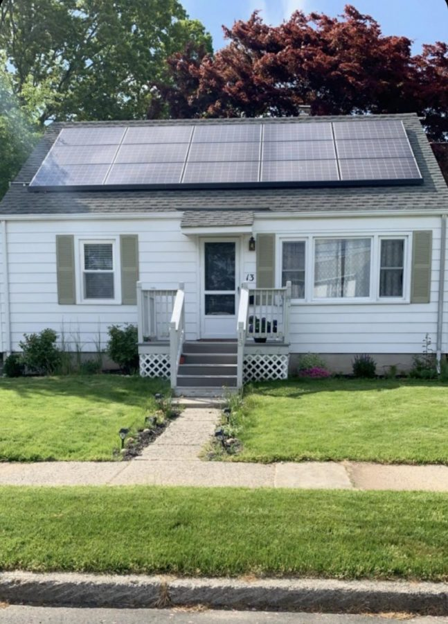 A house that uses solar power in everyday life. Photo courtesy: Reid Waldron, May 19, 2021.