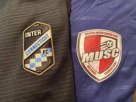 Clubs United : The jerseys of Inter CT and Milford United. Photo courtesy: Kevan Cogan.