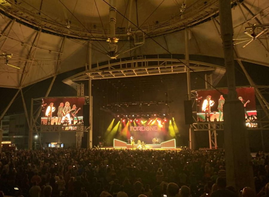 Foreigner Concert: Large group of fans thrilled to see the rock band following Covid-19. Photo Courtesy: Emilia Russell, August 31, 2021.