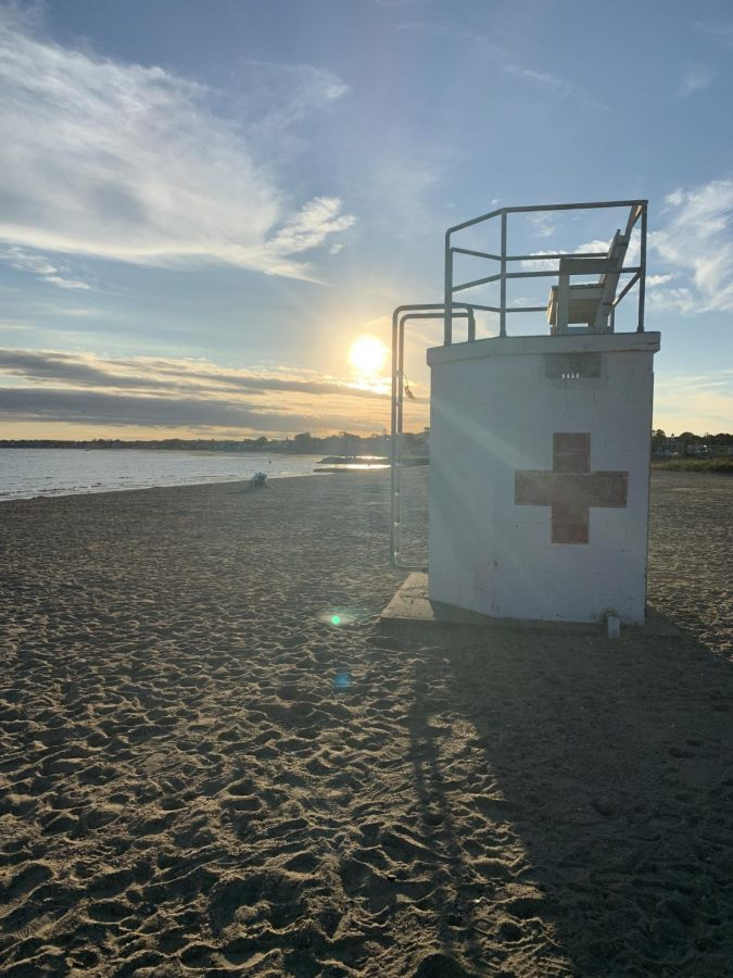 Empty+Lifeguard+Chair%3A+An+empty+lifeguard+chair+at+Gulf+Beach.+Photo+Courtesy%3A+Melissa+Santos%2C+September+17%2C+2021.
