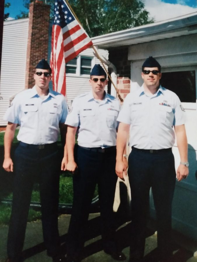 Paul Grillo and his Brothers in Their Air Force Uniforms. Courtesy: Paul Grillo.