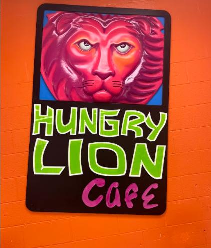 The Hungry Lion: Foran High School's Cafe logo. Photo courtesy: Jake Israelite, September 24, 2021.