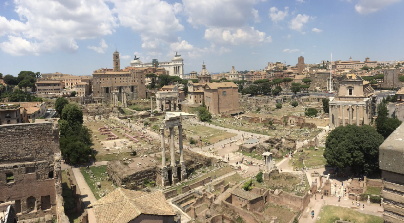 The+Roman+Forum%3A+A+forum+full+of+ancient+ruins+in+Rome%2C+Italy.+Photo+Courtesy%3A+Julia+Poffenberger%2C+June+2018.